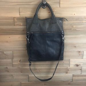 J. Jill Grey Leather Crossbody Bag